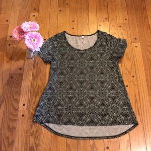 LuLaRoe black and mint classic T-shirt- Size M